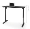 "Black 60"" Office Desk with Electronic Height Adjustment from 28 - 45"""