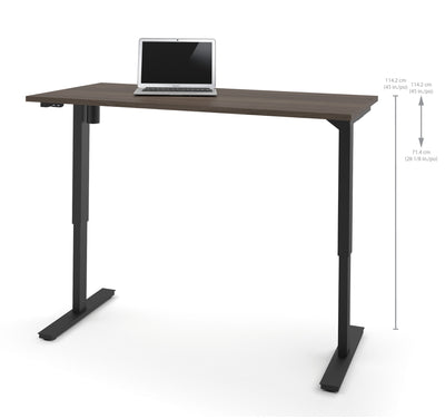 "60"" Office Desk in Antigua Finish with Electric Height Adjustment from 28 - 45"""