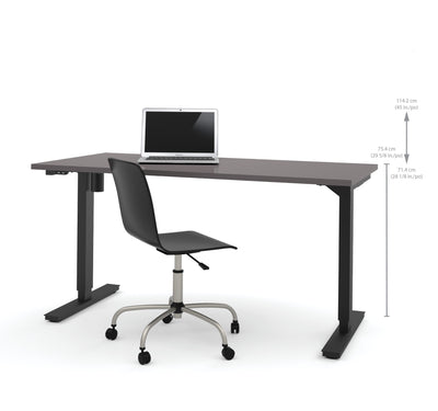 "Slate Modern 60"" Desk with Electric Height Adjustment (from 28 - 45"" H)"