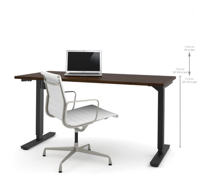 "60"" Chocolate Office Desk with Electric Height Adjustment (from 28 - 45"" H)"