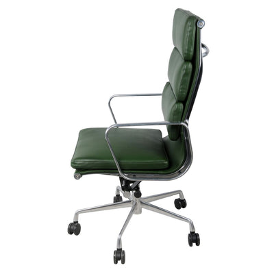 Forest Green High-Back Padded Office Chair