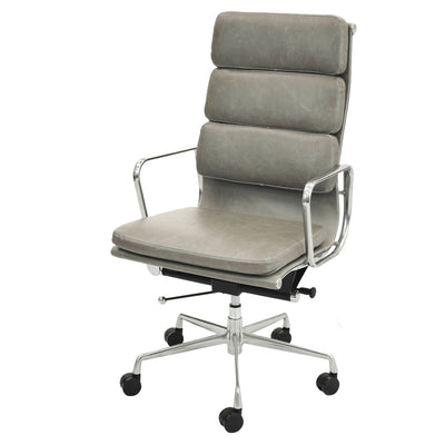 Vintage Smoke High-Back Padded Office Chair