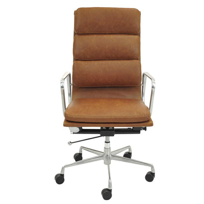 Vintage Tawny High-Back Padded Office Chair