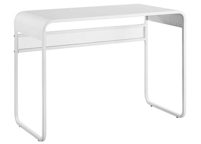 "42"" Urban White Metal Writing or Computer Desk w/ Curved Top"