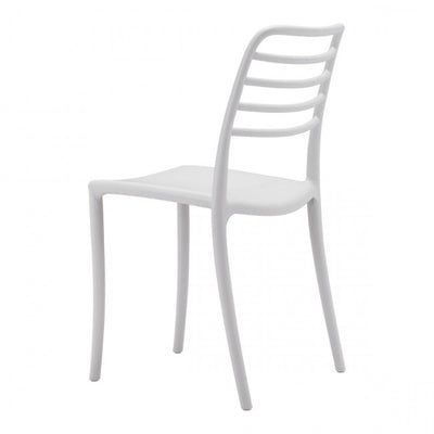 Gray Minimalist Plastic Guest or Conference Chair (Set of 2)