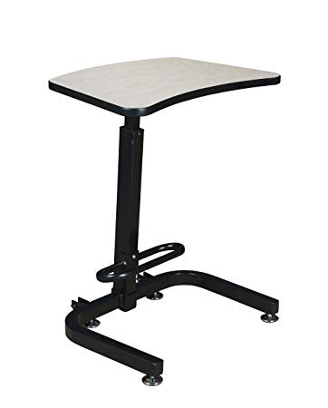 "Compact 26"" Sit-Stand Desk with Height Adjustment in Maple"