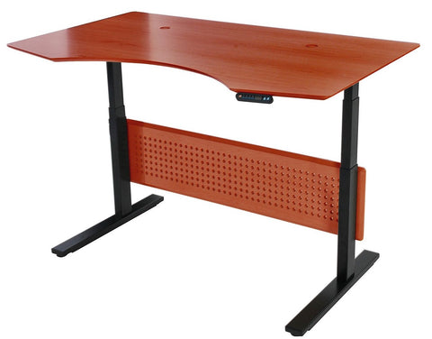 "63"" Premium Standing Desk with Electric Height Adjustment in Cherry"