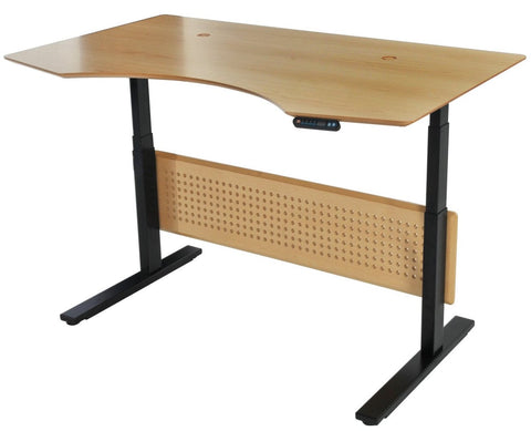 "63"" Premium Standing Desk with Electric Height Adjustment in Maple"