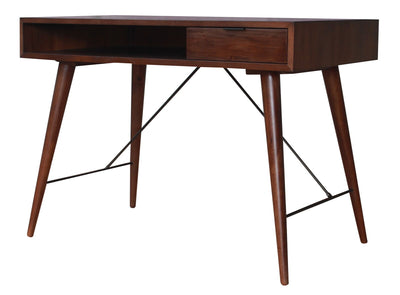 Solid Mahagoany Office Desk w/ Walnut Finish