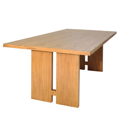 "Natural 79"" Mindi Wood Executive Desk or Conference Table"