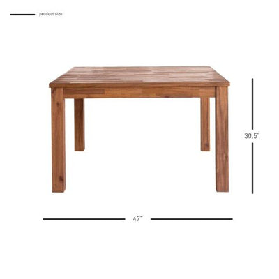 "47"" Square Meeting Table of Solid Acacia Wood"