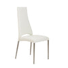 Striking White Chimney-Style Guest or Conference Chair (Set of 4)