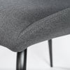 Charming Dark Gray Fabric Guest or Conference Chair (Set of 2)