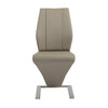 Z-Shaped Tan Leatherette Guest or Conference Chairs (Set of 2)