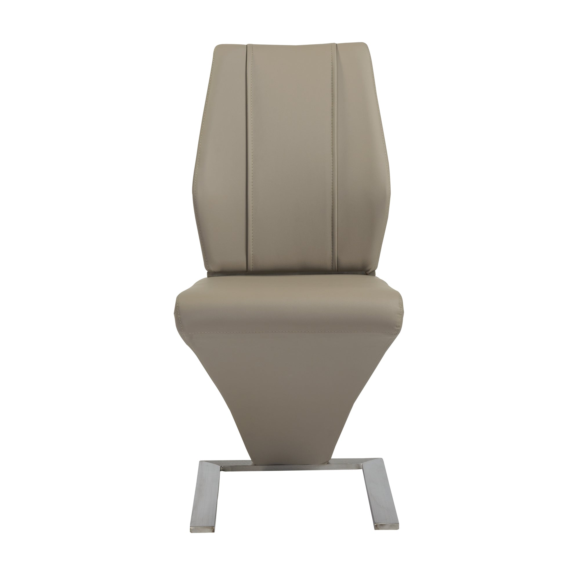 Exceptional Z Shaped Tan Leatherette Guest Or Conference Chairs (Set Of 2)