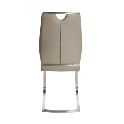 Quality Taupe Leatherette Guest or Conference Chairs (Set of 2)