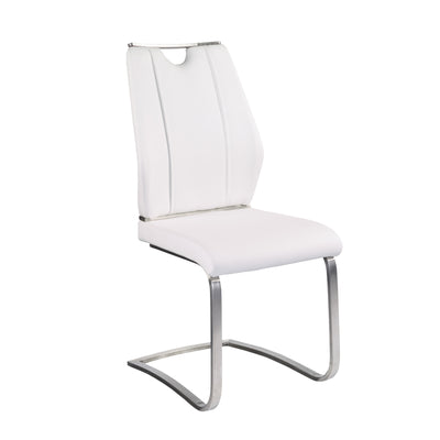 Quality White Leatherette Guest or Conference Chairs (Set of 2)