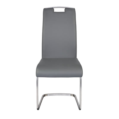 Comfortable Gray Guest or Conference Chair With Handle (Set of 4)