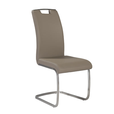 Comfortable Taupe Guest or Conference Chair With Handle (Set of 4)