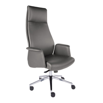 High-Back Rolling Office Chair in Dark Gray