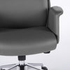 Elegant High-Backed Dark Gray Leatherette Office Chair