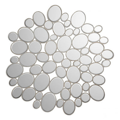 Cheerful Pebble Mosaic Office Wall Mirror