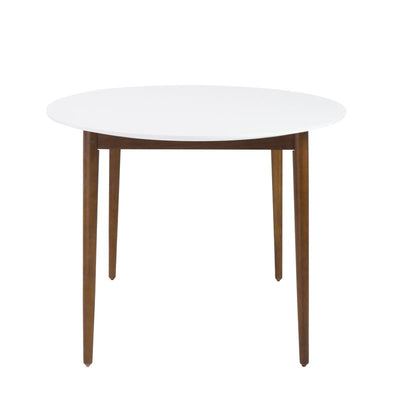 Oval White Matte Meeting Table w/ Solid Ash Wood Legs