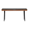 "63"" Black & Walnut Modern Desk with Drawer"