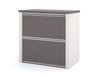 "71"" x 83"" L-shaped Desk with Hutch & Oversized Pedestal (Color Options)"