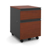 Bordeaux & Graphite Locking Mobile File Cabinet