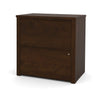 "31"" Modern Lateral File from Bestar in Chocolate"