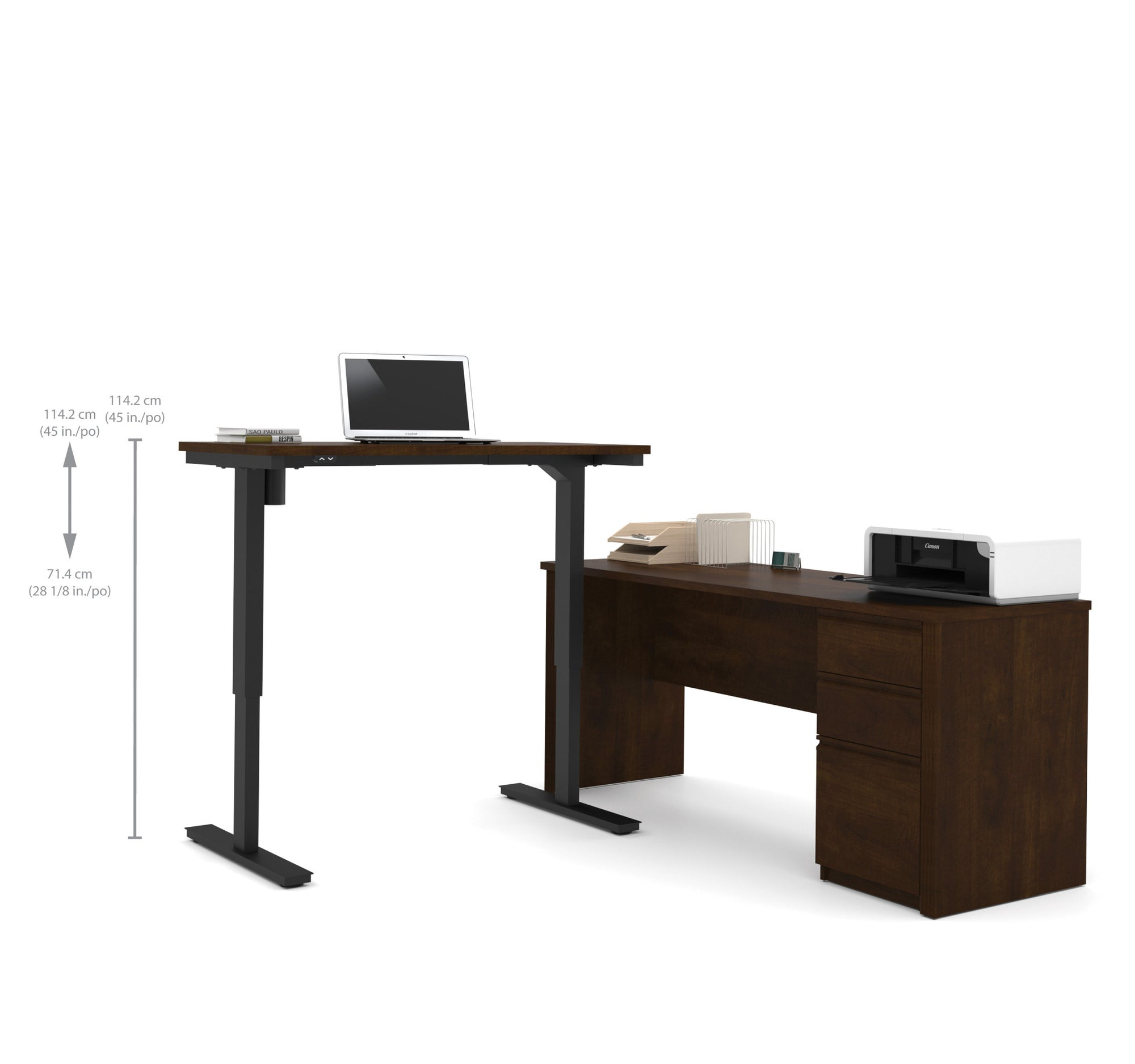 is itm oak pc loading pedestal solid desk furniture single arden workstation image gal office computer