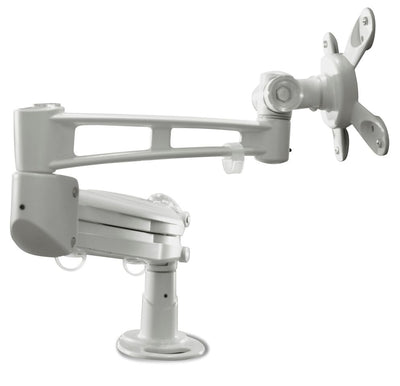 White Ergonomic Monitor Arm