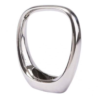 Shining Silver Oval Desktop Sculpture