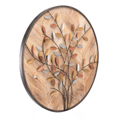 Charming Wooden Leafy Office Wall Art