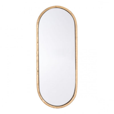 Simple Oval Mirror w/ Gold Frame
