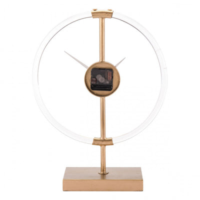Elegant Gold Clock w/ Clear Backing