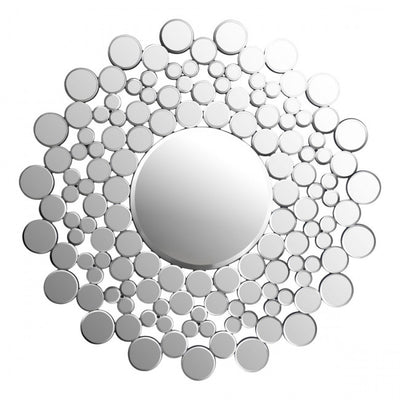 Mirror Made from Mirrored Dots in Sun Shape
