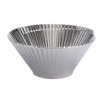 Silver Pleated Decorative Bowl