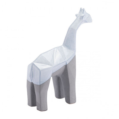 Multi-Faceted Grey & White Giraffe Desktop Sculpture