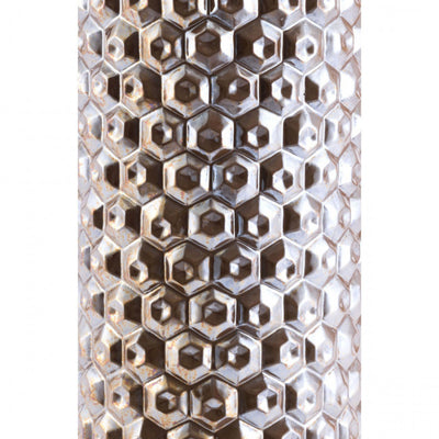 Large Antique Gold Honeycomb Office Vase