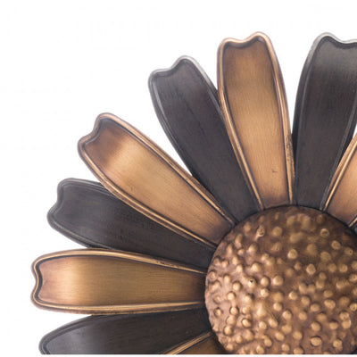 Dramatic Steel Daisy Office Wall Art