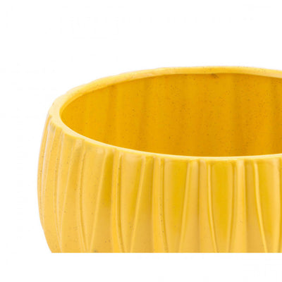 Bright Yellow Retro Modern Decorative Bowl