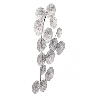 Intricate Silver Leaf Wall Art