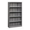"69"" Bookcase with Cable Management in Gray"
