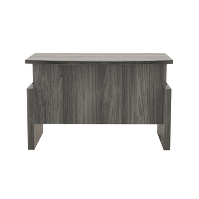 "72"" Bow Front Sit or Stand Desk in Gray"