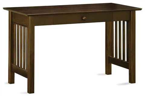 Solid Wood Sustainable Mission-Style Desk in Antique Walnut