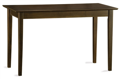 Shaker Style Solid Wood Computer Desk in Antique Walnut