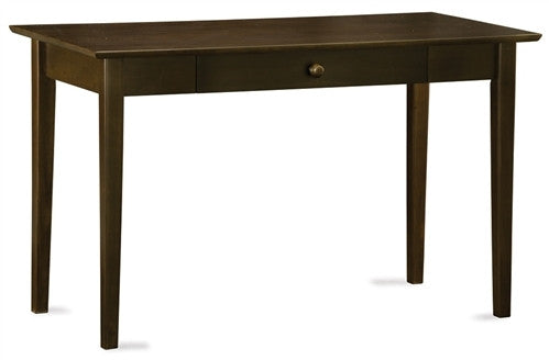 Shaker Collection Solid Wood Desk with Drawer in Antique Walnut