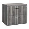 Sleek U-shaped Executive Desk with Built-in Storage and Hutch in Gray